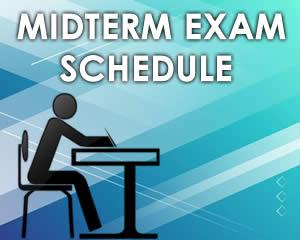 MidTerm 1stSem 2018-19 Schedule