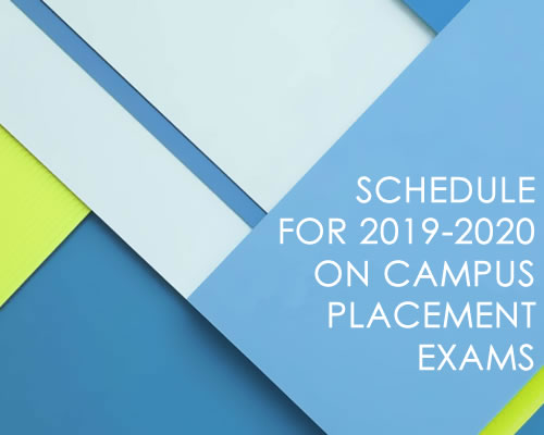 Schedule for SY 2019-2020 on Campus College Placement Exams